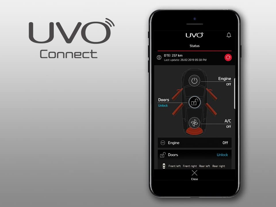 Kia ProCeed UVO connect services